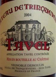 Chateau de Trinquevedel Tavel Rose 2011