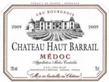 Chateau Haut Barrail Medoc 2009