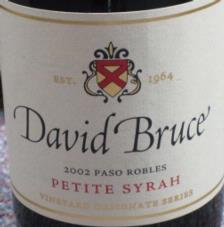 David Bruce 'Shell Creek' Petite Sirah 2006
