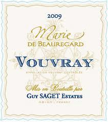 Guy Saget 'Marie Beauregard' Vouvray 2009