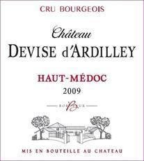 Chateau Devise d'Ardilley Haut-Medoc 2009