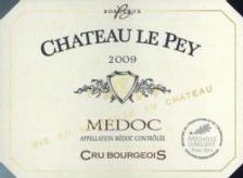 chateau le pey medoc 2009 bordeaux red wine. Black Bedroom Furniture Sets. Home Design Ideas