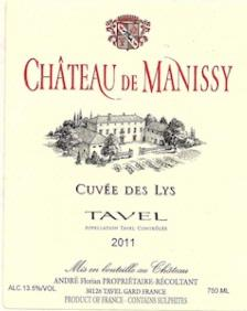 Chateau de Manissy Tavel 'Cuvee des Lys' 2011