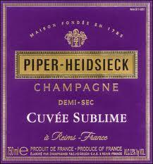 Piper Heidsieck Demi-Sec Cuvee Sublime