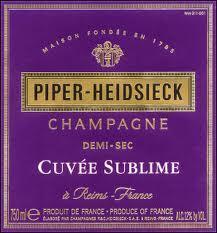 Piper Heidsieck Demi-Sec Cuvee Sublime