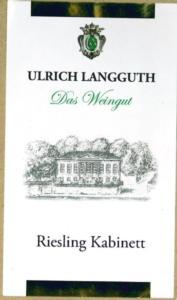Ulrich Langguth 2014 Riesling 'Gunterslay'