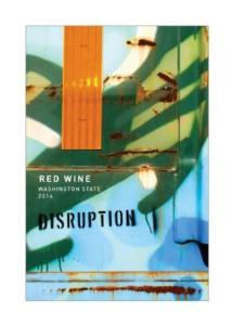 Disruption Red Blend 2014