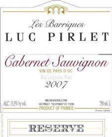Domaine Luc Pirlet Cabernet Sauvignon 2015