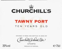 Churchill's Tawny Port 10 Yr Old  500ml