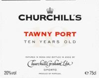 Churchill's Tawny Port 10 Yr Old  500ml
