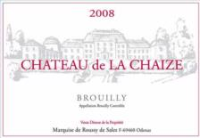 Chateau de la chaize brouilly 2009 burgundy red wine for Brouilly chateau de la chaise