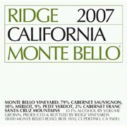 Ridge Vineyards 'Monte Bello' Cabernet Blend 2007