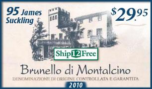 Ship12Free: 95 Point 2010 Brunello di Montalcino