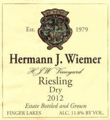 Hermann Wiemer 'HJW Vineyard' Riesling 2014