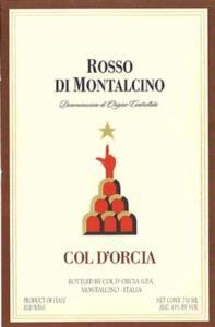 Col d'Orcia Rosso di Montalcino 2008