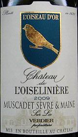 Chateau de L'Oiseliniere Sevre et Maine sur lie 2009